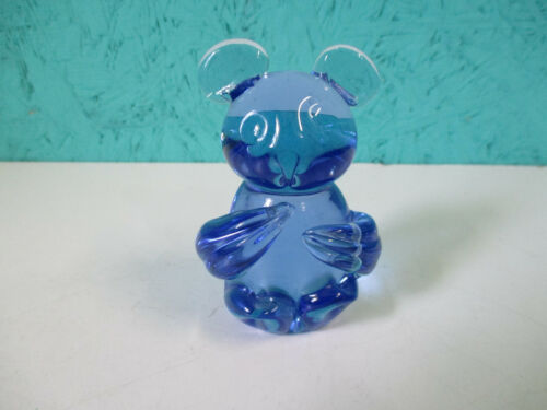 United States Commerative Fine Art Gallery Blue Koala Glass Figurine Paperweight