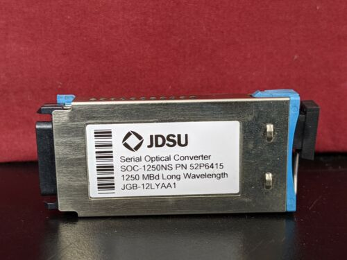 JDSU Serial Optical Converter SOC-1250NS PN 52P6415 1250 MBd Long Wavelength