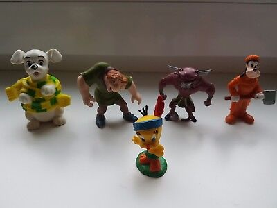 Sammelfiguren 4x Disney & 1x Warner Bros 1983 Tweety