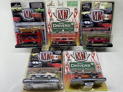 M2 Machines Lot of 5 (6 Cars) - Auto-Lift / Detroit Muscle, etc...FREE Shipping
