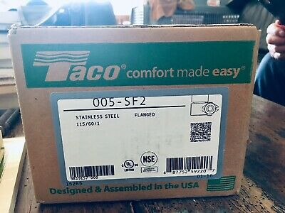 Taco Circulator Cartridge 005-sf2 Stainless Steel Flanged Pump Unopened Box