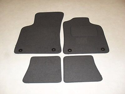 Audi TT 1999 2006 Fully Tailored Deluxe Car Mats in Grey with Grey Trim