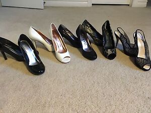 5 pairs of heels- size 8-8.5