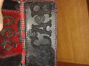 1 of a kind hand made leather wallet