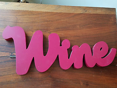 Big Lots Burgundy Colored Lettering  Wine  Wall Hang Plaque  New
