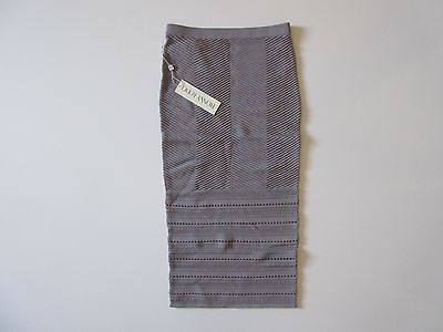 NWT Ronny Kobo DARLING in Steel Ribbed Row Ottoman Texture Stretch Knit Skirt XS