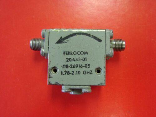 FERROCOM 1.7-2.1GHz Isolator Model 20A43-01, SMA