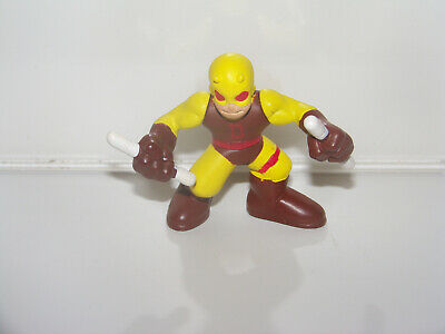 MARVEL COMICS DAREDEVIL 2006 HASBRO SUPER HERO SQUAD YELLOW COSTUME FIGURE