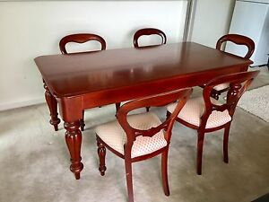Solid mahogany dinning table and chairs Rhodes Canada Bay Area Preview
