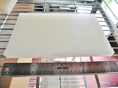 Polypropylene Sheet Natural Translucent White 1 X 7 X 11.5 Polypro