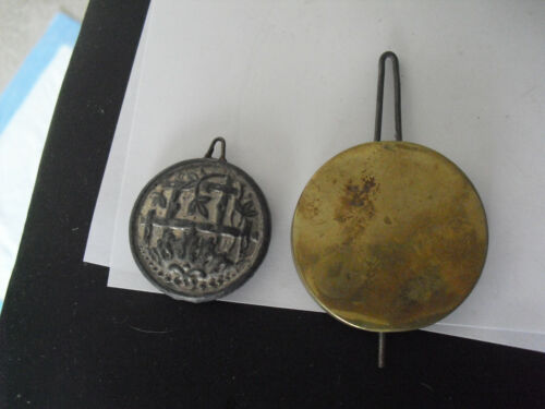 Lot of 2 Vintage Metal Clock Pendulum Weights