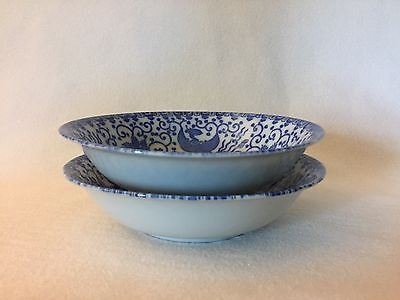 2 Vintage Phoenix Bird Flying Turkey Japanese Individual Salad Bowls, Free Ship