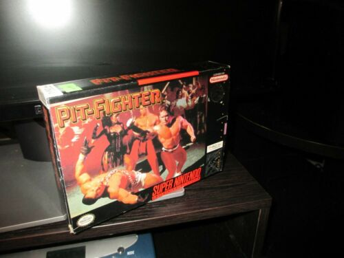 Pit-Fighter SNES Box  Only .  No game included.