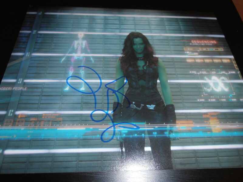ZOE SALDANA SIGNED AUTOGRAPH 8x10 PHOTO GUARDIANS OF THE GALAXY 2 MARVEL COA D