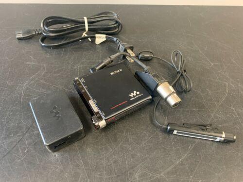 Sony Walkman MZ-M200 Linear PCM Recorder w/ Mic Adapter & Power Supply