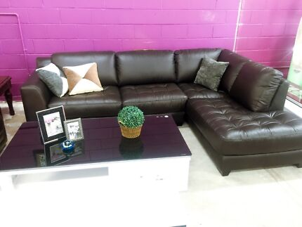 Huge Sofa Open Warehouse Sale Leather Sofa with Chaise Special
