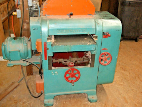 POWERMATIC PLANER E-16, 3HP, 220 V 3 PH, PHASE CONVERTER, DUST COLLECTOR, XTRAS