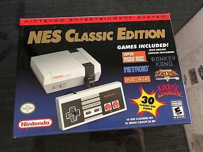 Authentic Nintendo Classic Edition NES Mini Game Console USA Brand New in...
