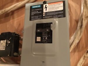 Electrical breaker box with breakers and wiring 40 amps