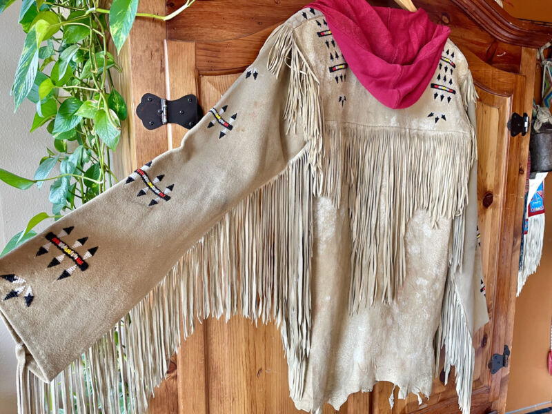Vintage Authentic fringed Native American War Shirt