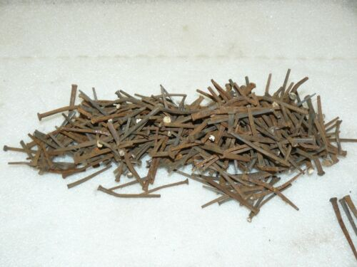 4lbs Old Used Rusty Square Nails Lot Arts Crafts