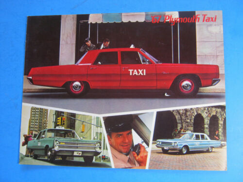 1967 PLYMOUTH TAXI CAR BROCHURE ORIGINAL 11 PAGES
