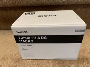 Brand New SIGMA ART 70MM F2.8 DG MACRO SONY E Mount