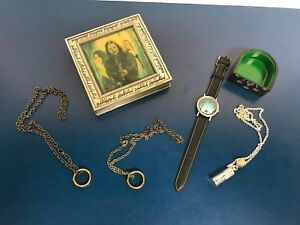 Lord of the Rings Jewelry Collection ~ Metal Case, Ring Holder, 2 Rings, Watch +