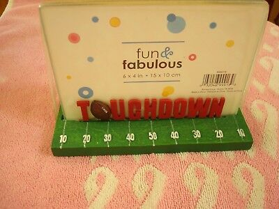 Kids & Adults Football Touchdown Heavy Base Glass Picture Holder a Gift Idea (Football Ideas)