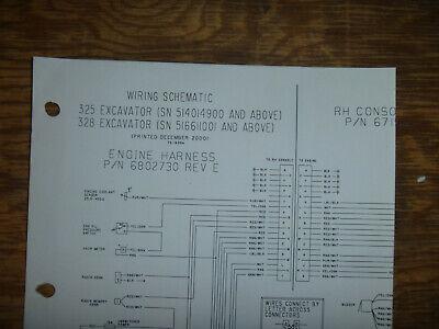 Bobcat 325 328 Excavator Electrical Wiring Diagram Schematic Manual