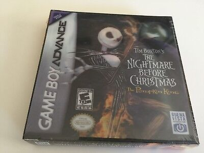 Tim Burton's The Nightmare Before Christmas: Pumpkin King Nintendo Game Boy NEW