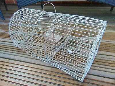 ANTIQUE VINTAGE FRENCH HUMANE RAT MOUSE RODENT METAL CAGE TRAP