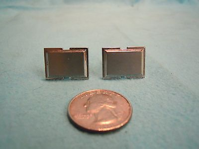 Vintage Silver Plated Rectangle Brushed Texture Cufflinks Hickok