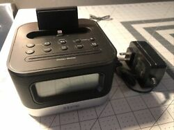 iHome IPL10 FM Radio Alarm Clock Speaker w Lightning Dock for iPhone