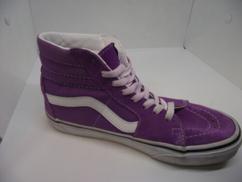 Vans Unisex Womens 6.5 Mens 5 Purple Suede High Top Skater Shoes Sneakers EUC