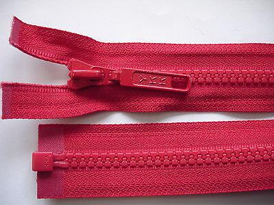 1 Stück Reißverschluß YKK rot  58cm lang,  teilbar Y38