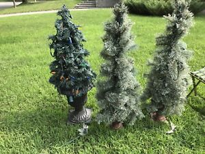 Porch size Christmas trees and lights