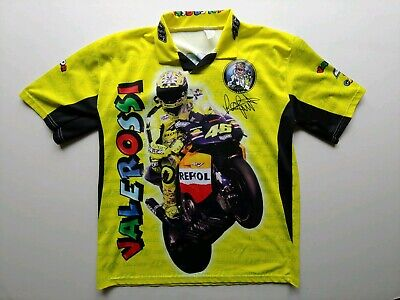Valentino Rossi VR46 Moto GP The Doctor Yellow T-shirt Official world champion for sale  Shipping to Canada
