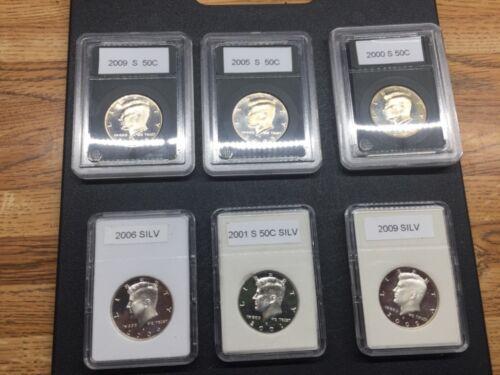 Kennedy half dollar lot 3-silver 3 clad