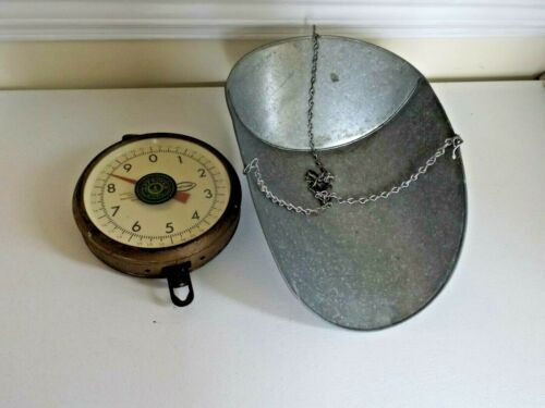 VINTAGE CHATILLON DIAL FACE HANGING SCALE Type 027 20 POUND + 1 Oz.