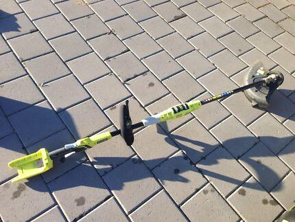 Ryobi cordless lawnmower & line trimmer