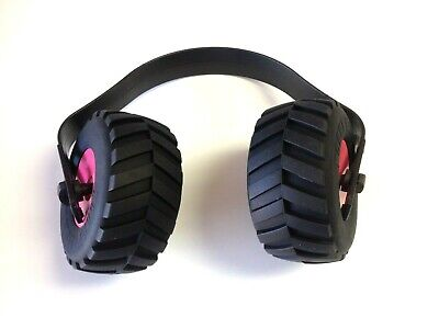 Kids Ear Muffs Mini Monster Truck Tires-pink Red Green Yellow Hearing Protection