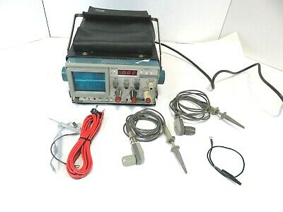 Sony Tektronix 305 Dmm 2 Channel 5mhz Oscilloscope With 2 Probes