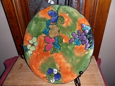 S.HANCOCK & SONS TITIAN HAND PAINTED PLATE BY FX ABRAHAM.1930s .