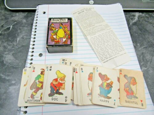 Vintage WDP Russell 1946 Snow White Vol 6 Card Game Complete Nice Buy it Now!!