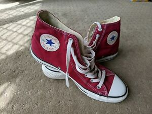 CONVERSE ALL STAR Maroon High Top Sneakers Men's 9, Women's 11 as new