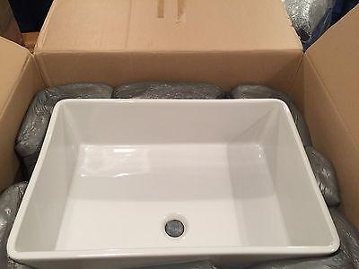 "Cantrio Koncepts PS-003 White Vitreous China 24"" Rectangular Vessel Bath Sink"