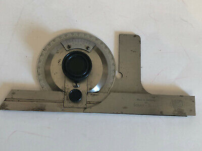Mauser Bevel Machinist Protractor With Box Made In Germany For Scheer- Tumico