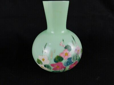 Vases Green Hand Painted Enameled Vatican