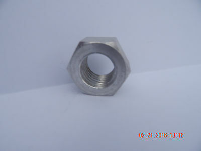 78-9 Solid Aluminum Finished Hex Nuts..quanity 2 Pcs..new